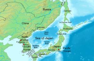 Grannländer till det Japanska havet