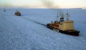 Isbrytare på Ochotska havet