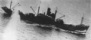Slagskepp sänks på Bismarcksjön