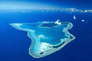 Ön Aitutaki är en del av Cooköarna