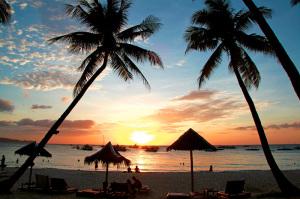 Strand i Filippinerna
