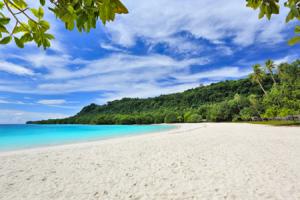 Fin strand på Vanatu